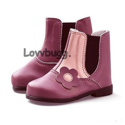 """My Twinn Pink Flowers Boots Shoes for 23"""" Girl Doll Widest Selection!"""