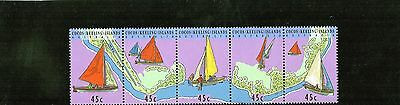1994 Cocos (Keeling) Islands Boats & Map Strip Of 5 Mint Never Hinged