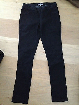 black fitted jean / pant, elastic waist, Size 10