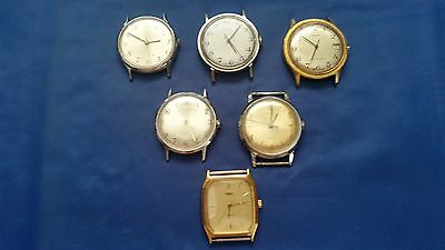 LOT OF 6 TIMEX USED WRISTWATCHES for parts.