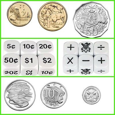 Six Sided Dice: The Six Operations and Australian Coins  (2 x 2 Dice)