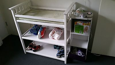 Baby Change Table with Change Mat - White