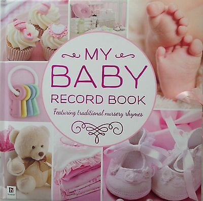 My Baby Record Book Pink  By Hinkler Keepsake Baby Shower Christening Gift New