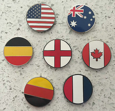 Assorted Country Flags Micro Geocoins for Geocaching ( 7 Varieties )
