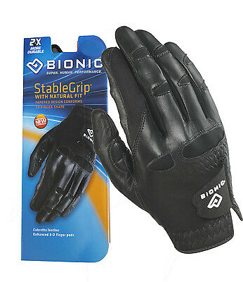 Bionic Golf Glove - Mens Right Hand Stable Grip - Black - LARGE - Post Disc%
