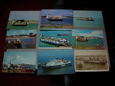 9 old dorset ferries postcards lot 1