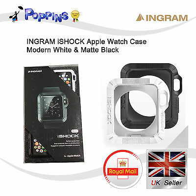 New Genuine Ingram iShock Apple Watch Case (42mm) Modern White & Matte Black