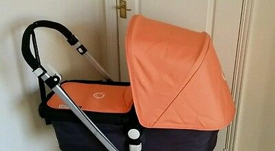 Limited edition tangerine  Bugaboo cameleon hood  and apron fabric canvas