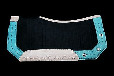 Lariat Workin' It Western Contoured Saddle Pad Turquoise last one FREE SHIPPING!