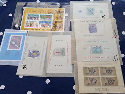 Various blocks from Africa incl lybia, Kenya, Liberia & Centraficaine CAR