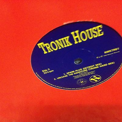 """TRONIK HOUSE - STRAIGHT OUTTA HELL (REMIXES) 12"""" (92 old skool)"""