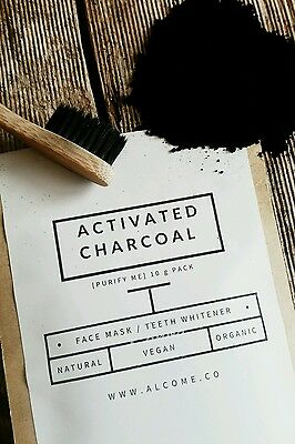 Activated Charcoal Powder Organic Whitening Coconut Detox Ultra Fine 30g