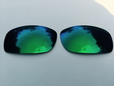 Polarised Emerald Green Mirrored Replacement Oakley Fives Squared & 3.0 Lenses