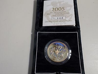 2005 Gold Five Pound Coin (Quintuple Sovereign)
