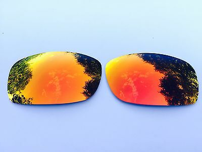 New Polarized Fire Red Mirrored Replacement Oakley Fives Squared & 3.0 Lenses