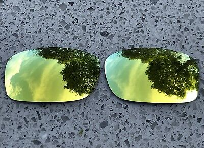 POLARIZED 24k GOLD MIRRORED REPLACEMENT OAKLEY FIVES SQUARED & 3.0 LENSES