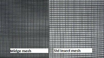Midge Wire Sandfly Mesh  Flyscreen  Flywire Gauge  20 x 20 1200mm x 30M