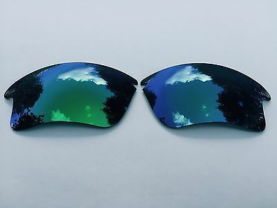 New Polarized Green /blue Fade Mirrored Replacement Oakley Fast Jacket Xl Lenses