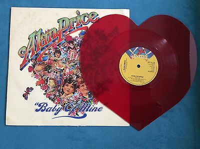 ALAN PRICE - BABY OF MINE - RED VINYL HEART SHAPED DISC   Record - EX