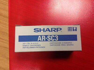 Genuine Sharp Ar-Sc3 1 Box With 3 X Staple Cartridges. New. Arsc2. Free Delivery