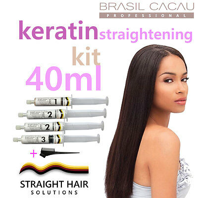 Keratin Hair Straightening Treatment - DIY to Fight the Frizz! 40ml Kit w/ comb