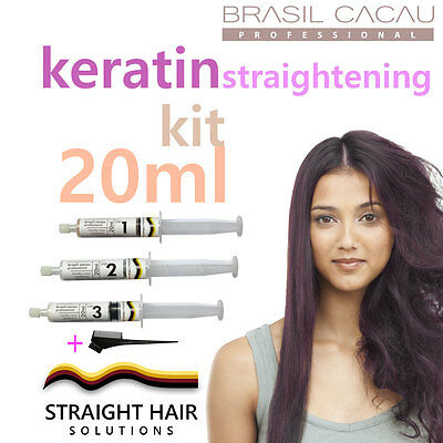 Keratin Hair Straightening Treatment - DIY to Fight the Frizz! 20ml Kit w/ comb