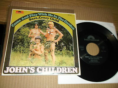"""7"""" Vinyl Record-Come And Play With Me In The Garden-John's Children-Freakbeat-Up"""