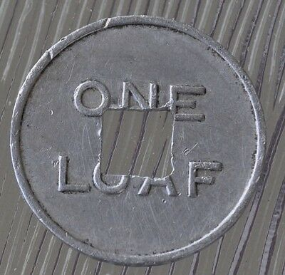 Bread Token for half loaf Issued by Woonona Industrial Co-Operative (last one)