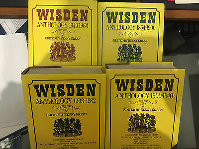 Set of four Wisden's Anthology from 1864 to 1982