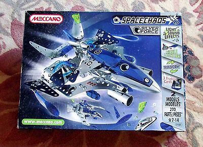 Meccano Space Chaos Silver Force 7101 Construction Set