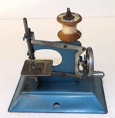 Vintage English Made Pressed Metal Childs Toy Sewing Machine