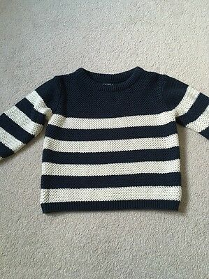 Next Boys Knitted Stripe Jumper Size 12-18 Months