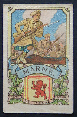MARNE Battle Series issued by MY WEEKLY in 1916 Silk with descriptive backing