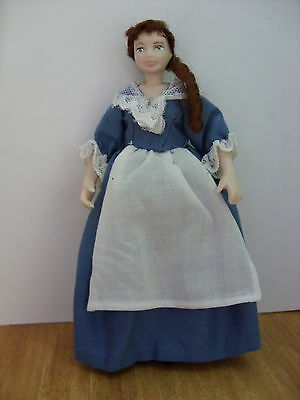 Porcelain Dolls House Doll  Georgian Maid in OOAK Outfit