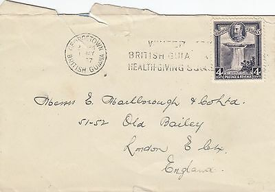 B 1276 Georgetown May 1937 cover to UK; 4c rate