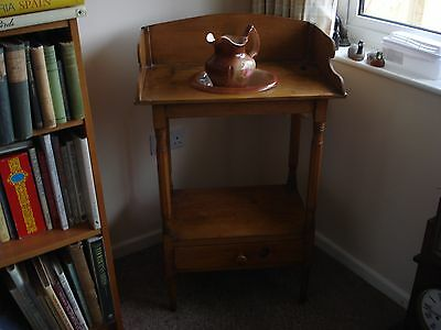 antique washstand with jug and bowl
