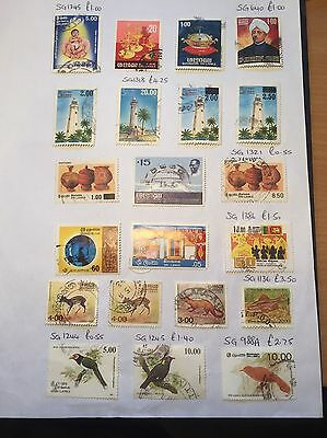 Selection Of Stamps From Sri Lanka.