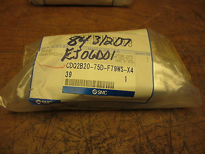 SMC CDQ2B20-75D-F79WS-X439 NEW Pneumatic Cylinder Actuator in Original Packaging