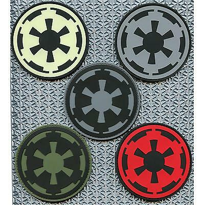 star wars galactic empire crest insignia PVC 3D rubber imperial hook&loop patch