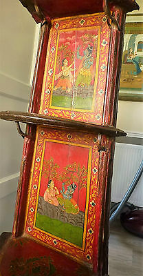 Vintage unusual Indian beautiful hand painted shelving or display stand, Rare