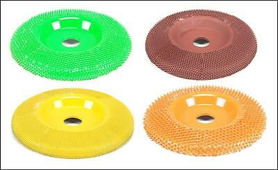 "SABURR TOOTH 4"" Multiple Grits Wood Angle Grinder Sanding Discs Disc 7/8"" Bore"