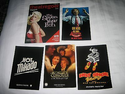 London Theatre Programmes - Gene Wilder Laughter On The 23Rd Floor/plus 4 Others
