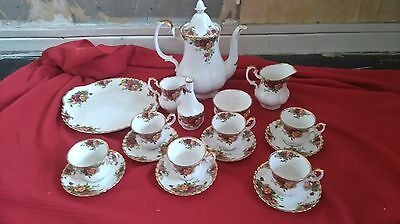 royal albert old country roses tea set with bud vase