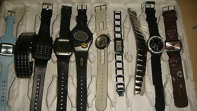 Trade Only Job Lot Of 10  X  Mixed  Watches 100% Gen.//////.