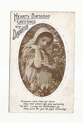Charming Postcard Of A  Girl In An Oval Framed Card-Series 406