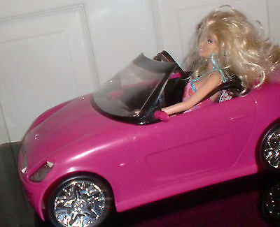 Barbie Deep Pink Convertible Sports Car with Doll