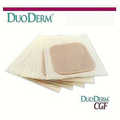 "[DuoDERM] NEW box of CGF ConvaTec Hydrocolloid 4""x4"" Control For Dressing 5ea"