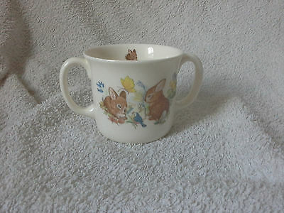 two handled childs bunny cup