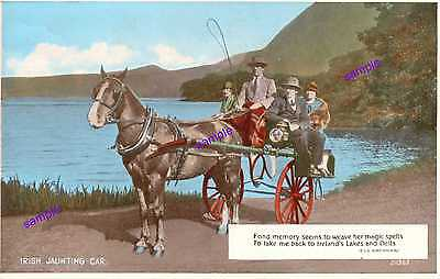 Irish Jaunting Car Horse and Wagon Vintage for Passengers= BAG OF HAY GO ALL DAY