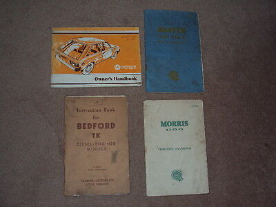 4 X Vintage Classic Car Owners Book / Manuals !!